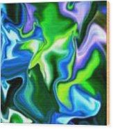 Glowing Stem Wood Print