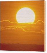 Glowing Sunball Wood Print