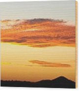 Glowing Sunset One Wood Print