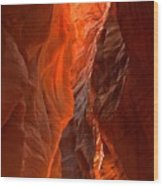 Glowing Walls Of Buckskin Gulch Wood Print