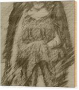 Glum Gillian Wood Print