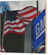 Gm Flags Wood Print
