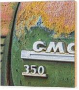 Gmc 350 Tag Wood Print