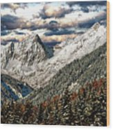 Gnadenwald In Autumn Wood Print