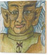 Gnarlsworth Gnome Wood Print