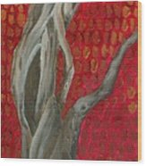 Gnarly Autumn Tree Wood Print