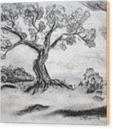 Gnarly Oak Wood Print