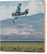 Go Fast Turn Left Fly Low Friday Morning Unlimited Bronze Class Wood Print
