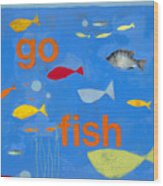 Go Fish Wood Print by Laurie Breen