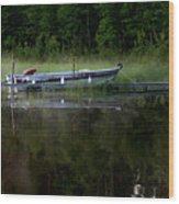 Go Fishing Wood Print