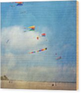 Go Fly A Kite Wood Print