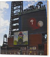 Go Phillies - Citizens Bank Park - Left Field Gate Wood Print