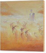Goat Herder Wood Print