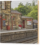 Goathland Railway Station, Train Station From Harry Potter Wood Print