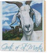 Goats Of St. Maarten- Andre Wood Print