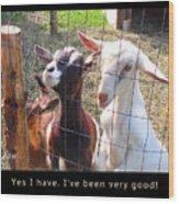 Goats Poster Wood Print