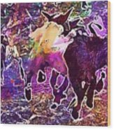 Goats Wildpark Poing Young Animals  Wood Print