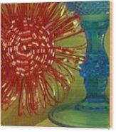 Goblet Bow Wood Print