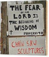 God And Saws Wood Print