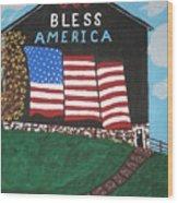 God Bless America Barn Wood Print