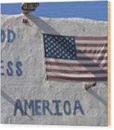 God Bless America Flag Restaurant Chandler Arizona 2005 Wood Print
