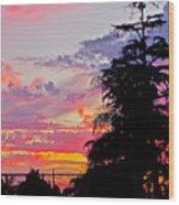 God Gracing La County Wood Print
