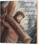 God So Loved The World Wood Print