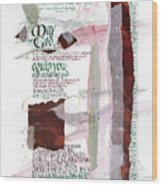 God Of Hope Wood Print by Judy Dodds