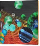God Playing Marbles Tribute To Donovan Wood Print