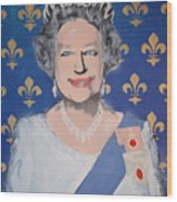 God Save The Queen Wood Print