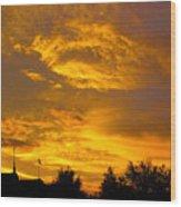 God Says Good Night Wood Print