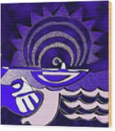 God Smiling On The Water Wood Print