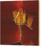 Goddes Of Fire Wood Print