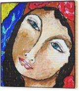 Goddess Bless Wood Print