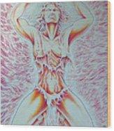 Goddess Breaking Chains Wood Print