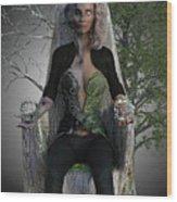 Goddess Hel Wood Print