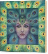 Goddess Isis Visions Wood Print by Sue Halstenberg