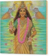 Goddess Lakshmi Wood Print