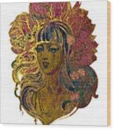 Goddess Lotus Wood Print