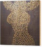 Goddess of Gold Wood Print