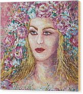 Goddess Of Good Fortune Wood Print