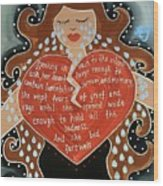 Goddess Of Grief Wood Print