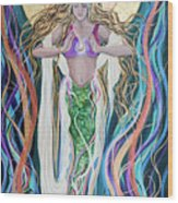 Goddess Of Intention Wood Print
