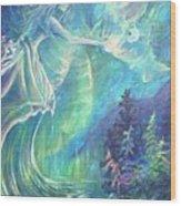 Goddess Of Memory Wood Print