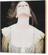 Goddess Of The Moon Wood Print