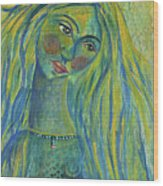 Goddess Of The North Sea Wood Print