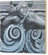 Goddess Of The Sea Wood Print