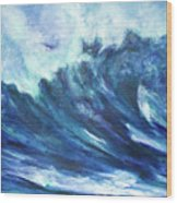 Goddess Of The Waves Wood Print