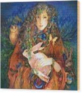 Goddess Ostara Wood Print