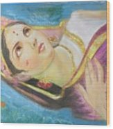 Goddess Radha Wood Print